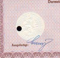 Dluhopis Hessische Landesbank Girozentrale, Darmstadt/1941/ 1000 Reichsmark, 4%, formát A4