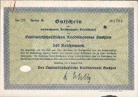 Dluhopis Landwirtschaftlichen Kreditverein Sachsen, Dresden/1930/, 340 Reichsmark