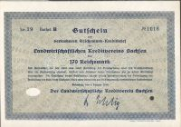 Dluhopis Landwirtschaftlichen Kreditverein Sachsen, Dresden/1930/, 170 Reichsmark