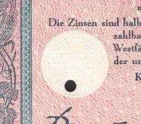 Dluhopis Rheinisch-Westfälische Boden-Credit-Bank in Köln/1942/ 2000 Reichsmark, 4%, formát A4