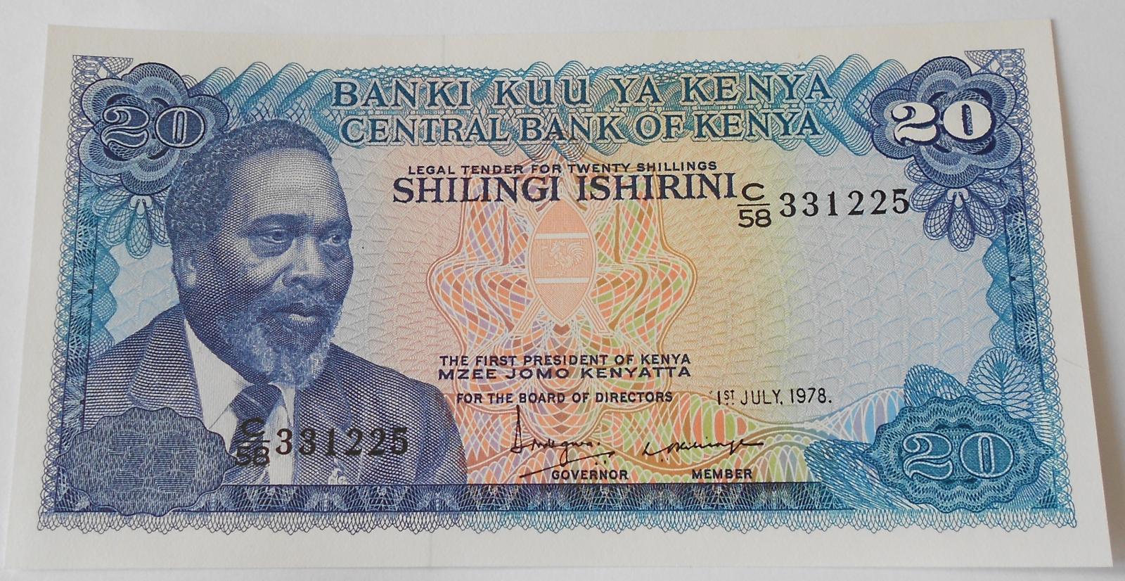 Keňa 20 Schilling 1978