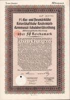 Půjčka Ritterschaftliche Darlehens Schuldverschreibung, Berlín /1930/, 50 Reichsmark, 5%, formát A4