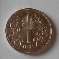 Rakousko 1 Koruna 1901 stav!