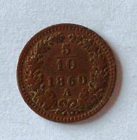 Rakousko 5/10 1860 A
