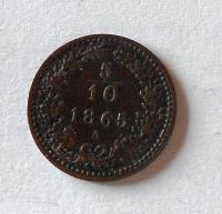 Rakousko 5/10 1865 A stav!