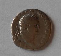 Řím – císař Ag Denár rok 75 Vespasianus 69-49 s:2300