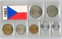 Ročníková sada oběžných mincí ČSSR (1983), stavy 0/0