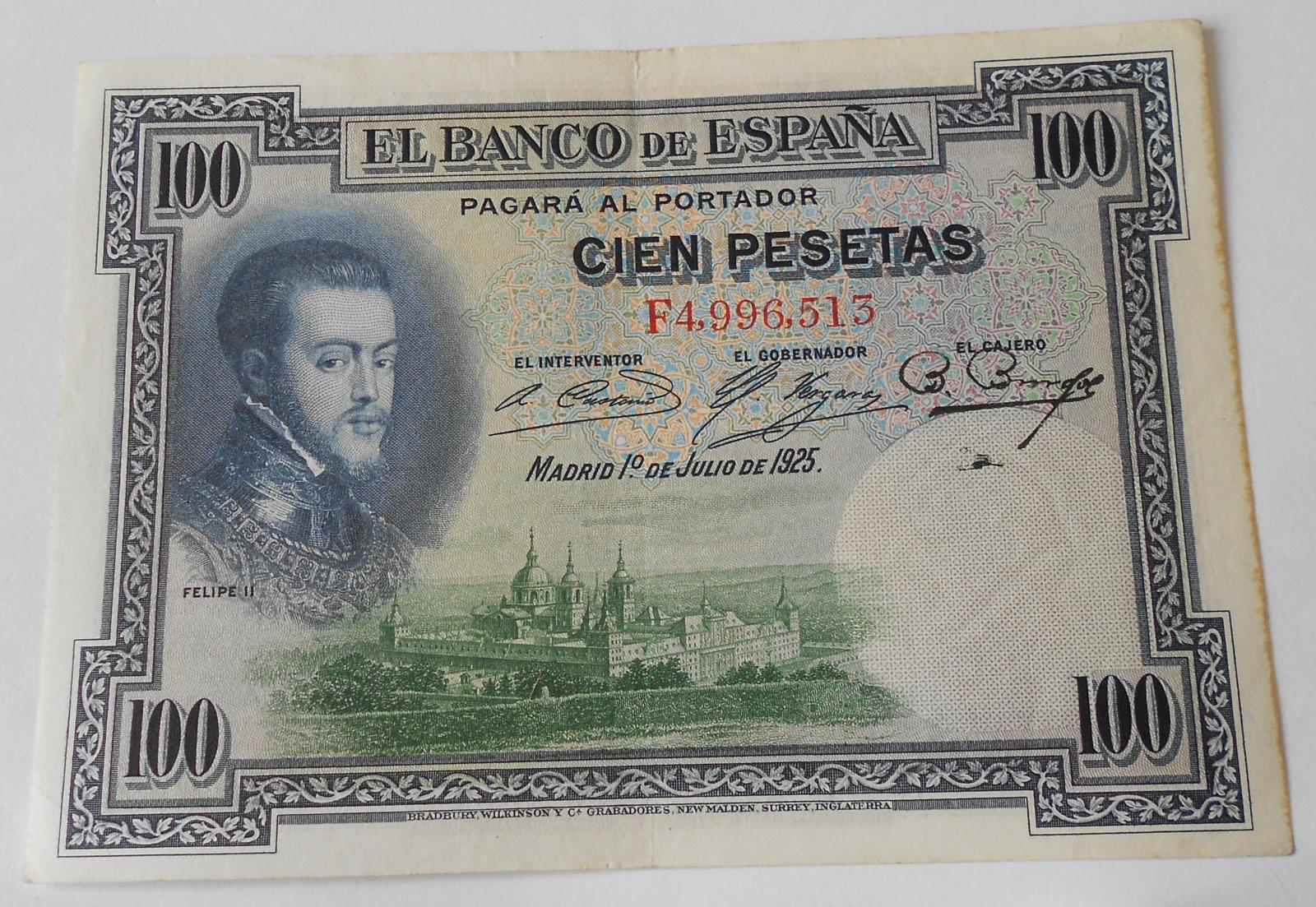 Španělsko 100 Peseta 1925