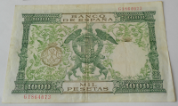 Španělsko 1000 Peseta 1957