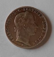 Uhry 1 Zlatník/Gulden 1862 B měl ouško