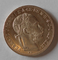 Uhry 1 Zlatník/Gulden 1883 KB stav!