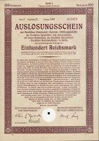 Dluhopis Deutsche Kommunal Sammel, Berlín/1926/ 100 Reichsmark, série I, formát A4