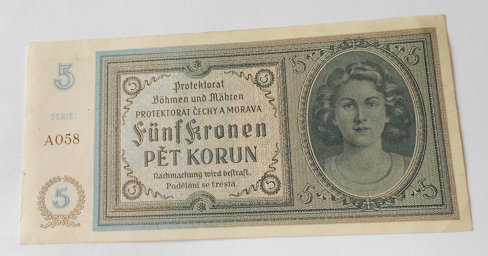 5 Koruna 1940, A-058