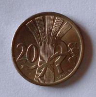 ČSR 20 Haléř 1922 stav