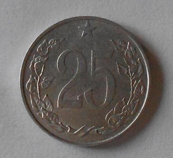 ČSR 25 Haléř 1954 stav