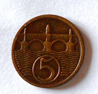 ČSR 5 Haléř 1931 stav
