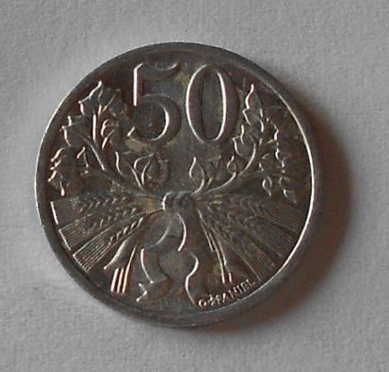ČSR 50 Haléř 1951 stav