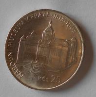 ČSSR 25 Koruna 1968, národní muzeum