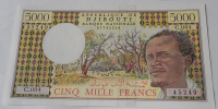 Džibutti 5000 Frank, domorodec, přístav