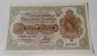 Falklandy 50 Pence 1974