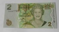 Fiji 2 Dollar Alžběta II., děli