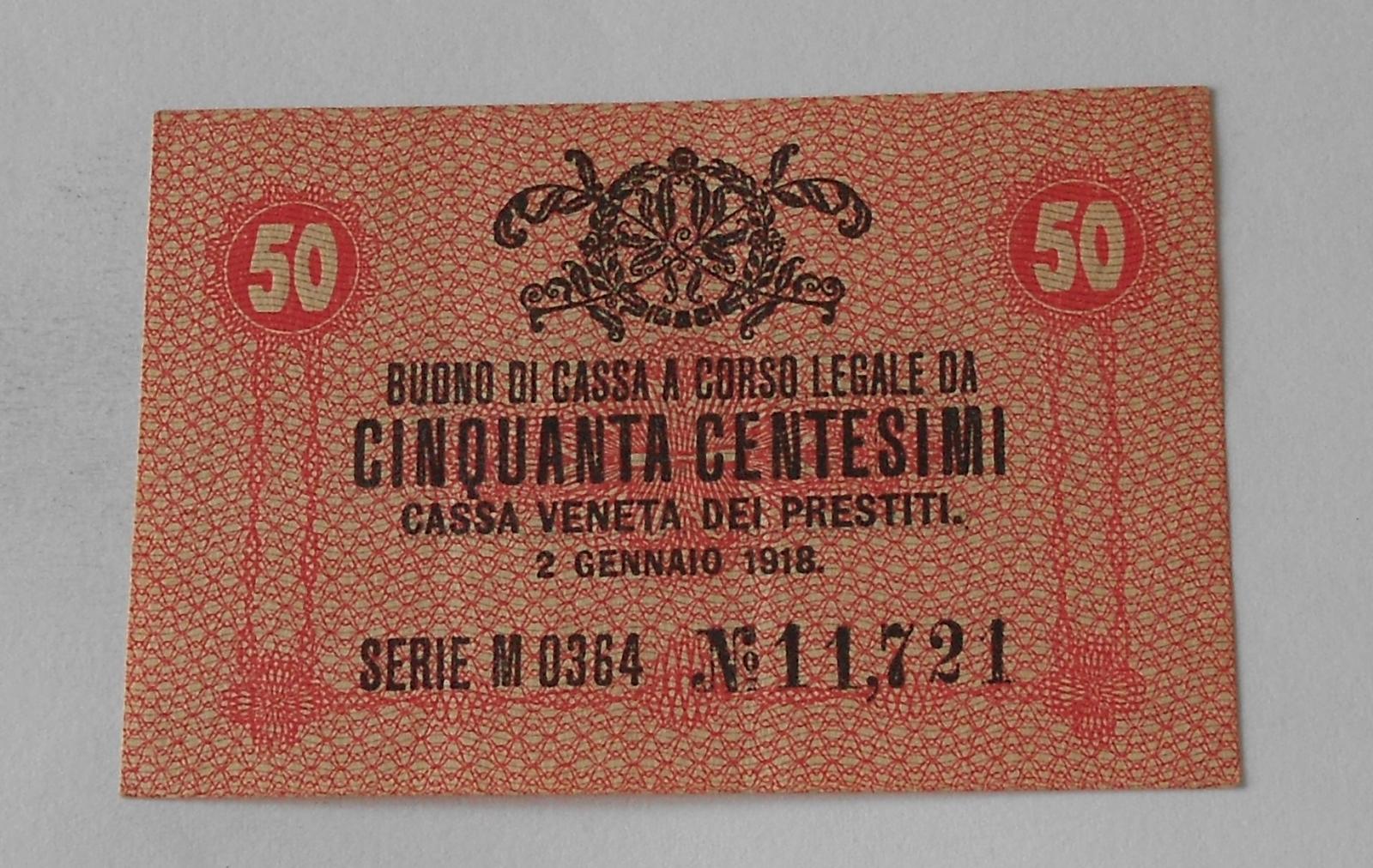 Itálie 50 Centesimi 1918