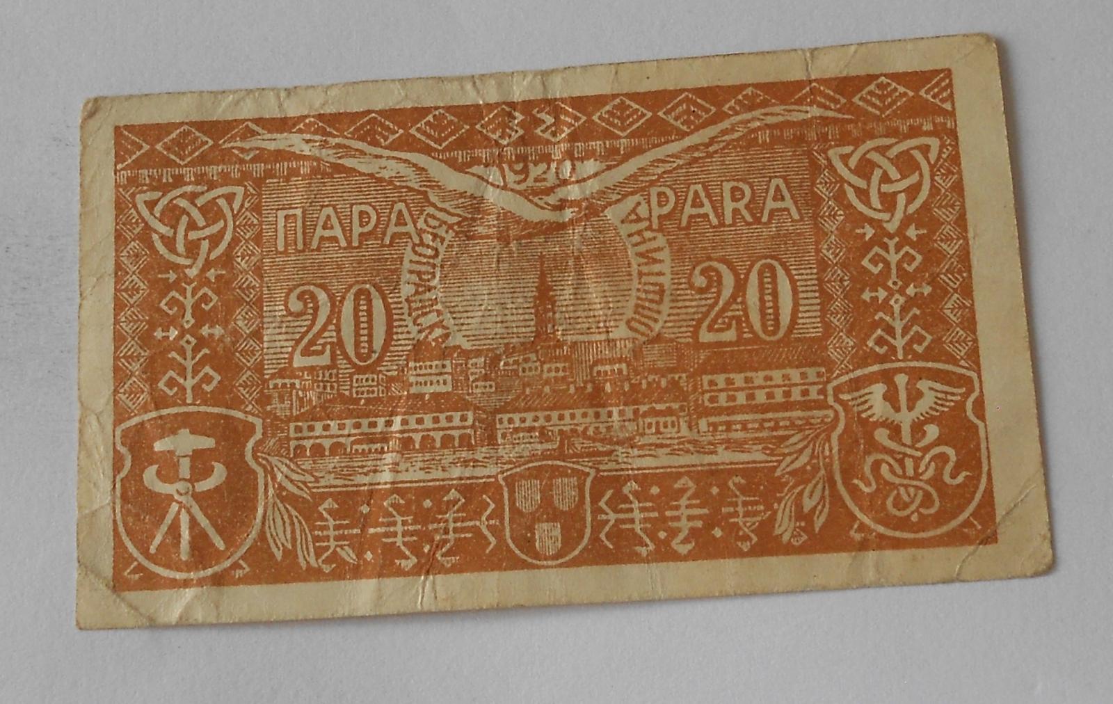 Jugoslávie 20 Para 1920
