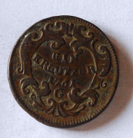Rakousko 1 Krejcar 1761 G František Lotrinský