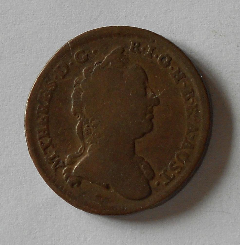 Rakousko 1 Krejcar 1763 W Marie Terezie