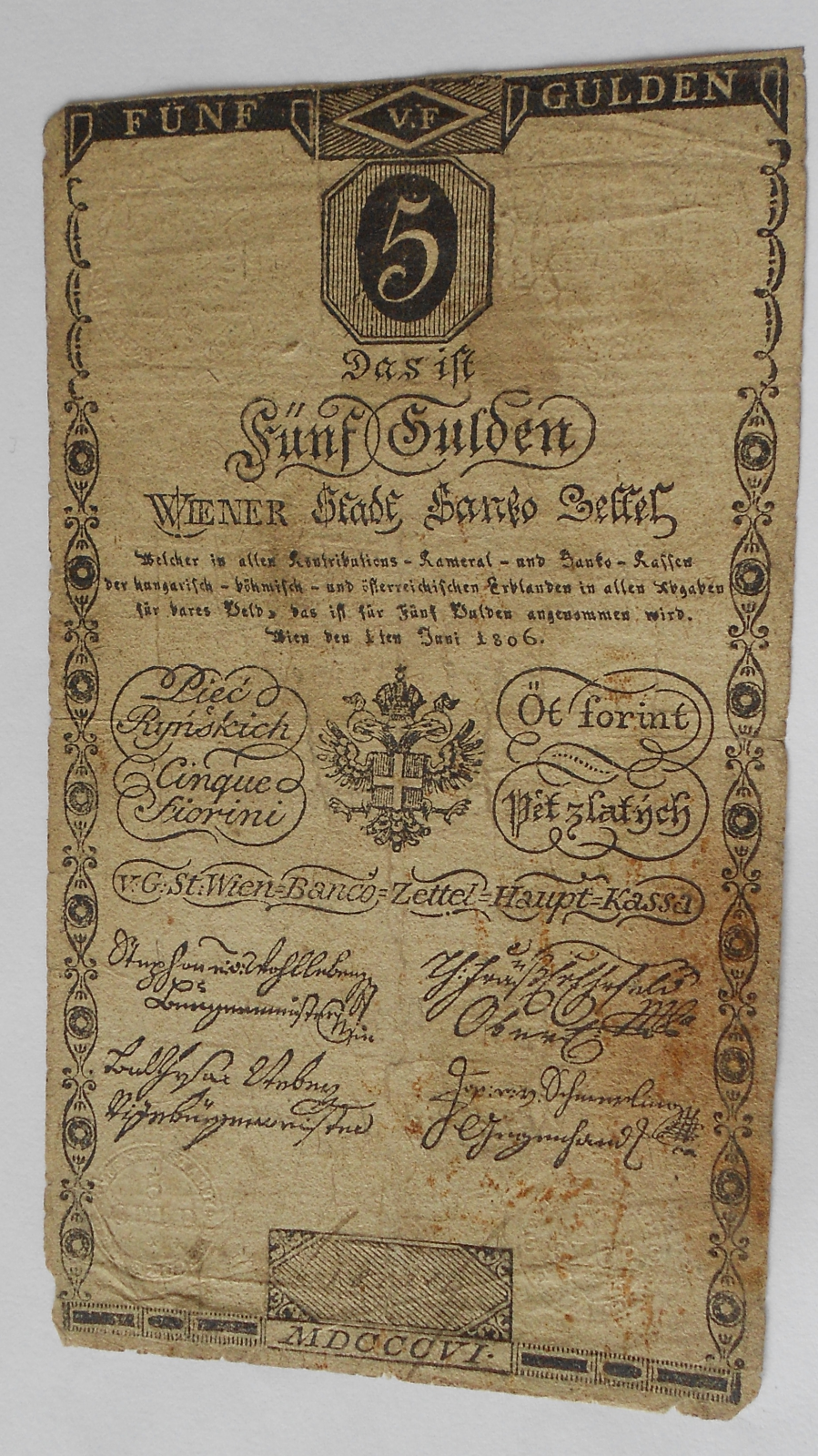 Rakousko 5 Gulden 1806