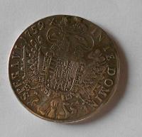 Rakousko Tolar 1759 František Lotrinský, měl ouško