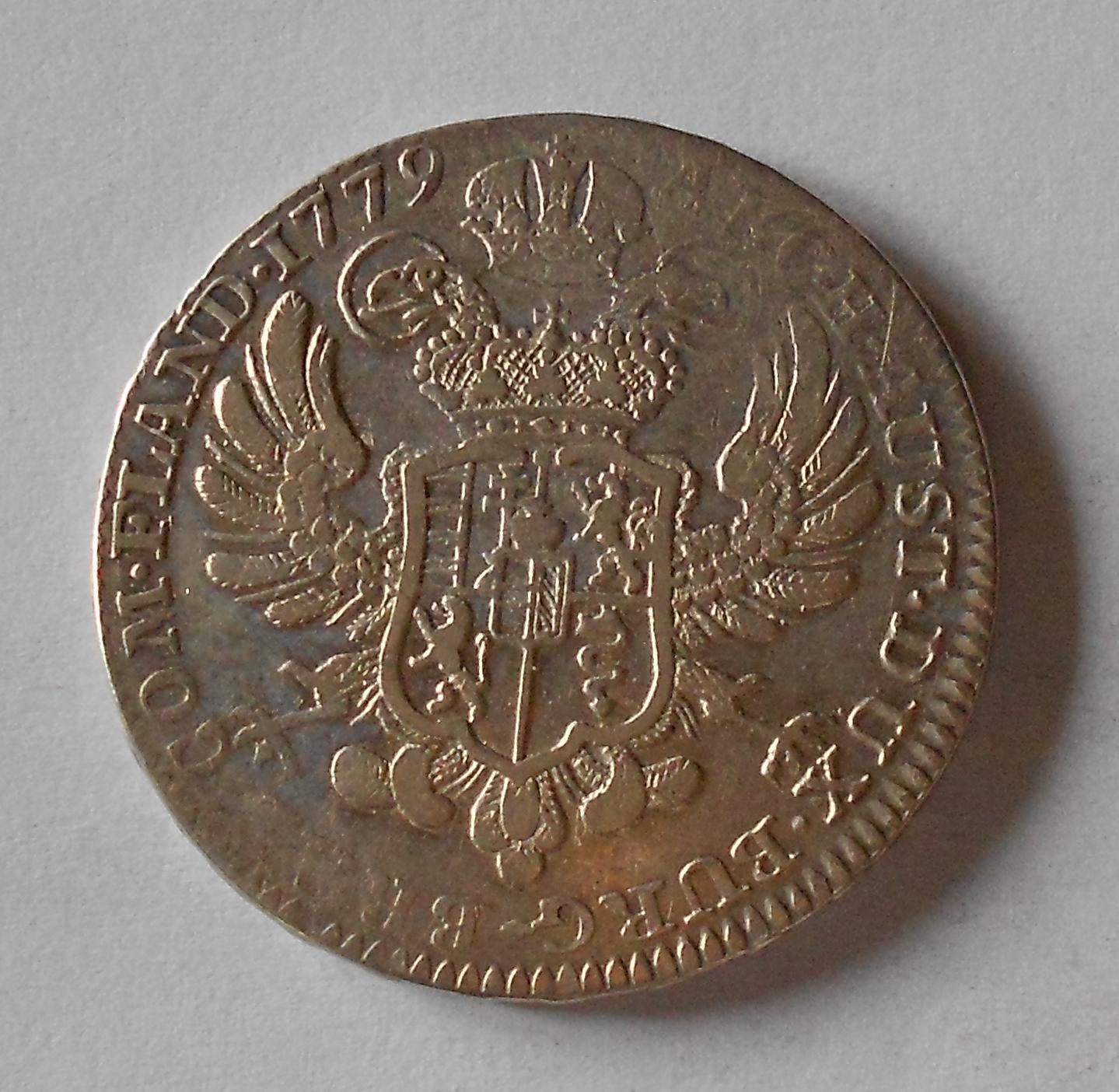 Rakousko Tolar křížový 1779 Marie Terezie