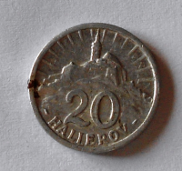 Slovensko 20 Haléř 1943