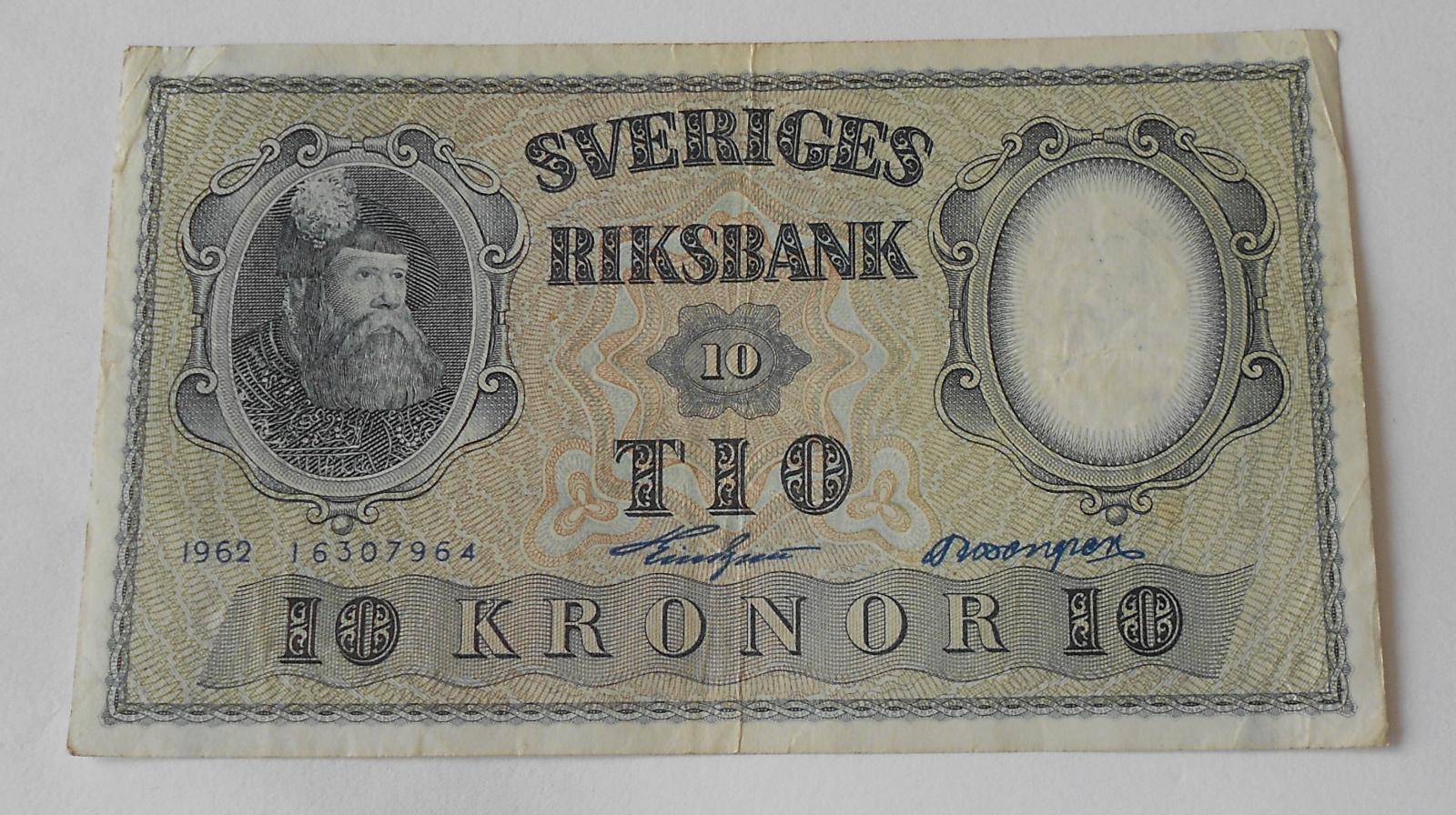 Švédsko 10 Koruna 1962