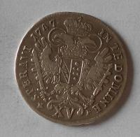 Uhry 15 Krejcar 1747 KB František Lotrinský
