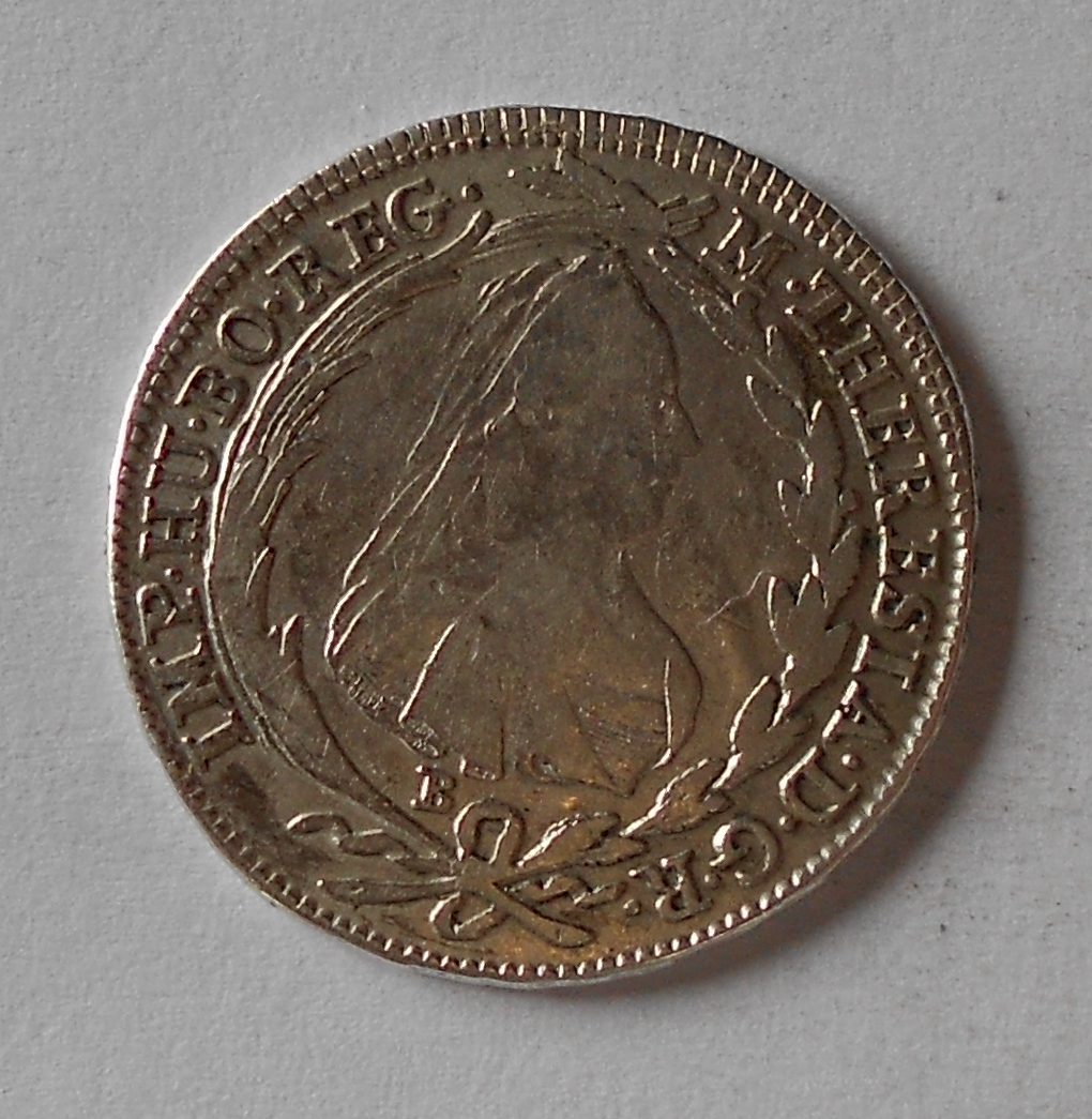 Uhry 20 Krejcar 1780 Marie Terezie