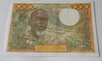 Východní Afrika 1000 Frank, muž a žena
