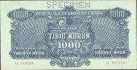 1000Kčs/1944/, stav 0 perf. SPECIMEN, série AA