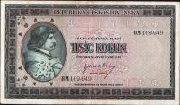1000Kčs/1945-bl/, stav 1-, série BM