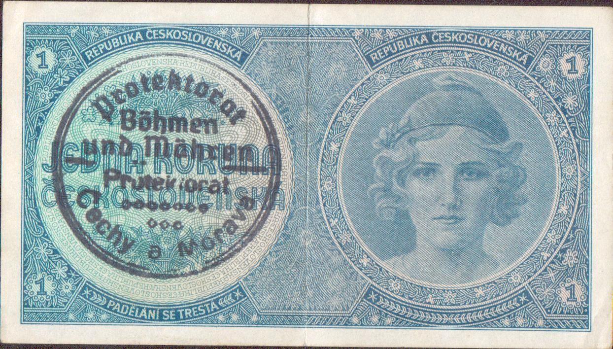 1K/1938-40/, stav 1, série A 008, ruční přetisk