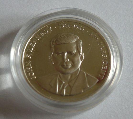 J.F. Kennedy, průměr 19mm, Ag med, USA