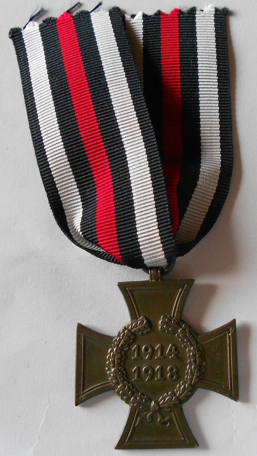 Německo Kříž bojovníků bez mečů 1914-1918