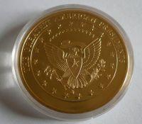 prezident Jefferson, zlacená, USA