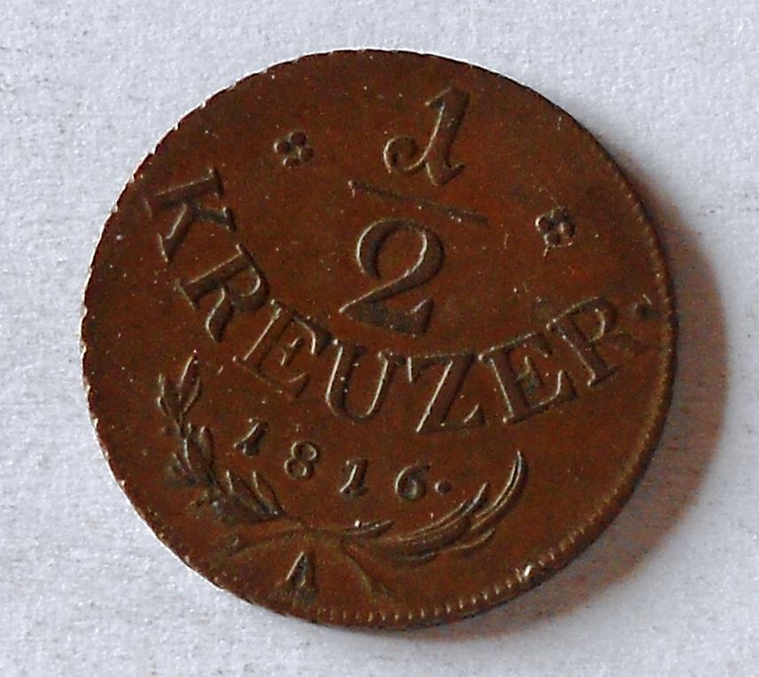 Rakousko 1/2 Krejcar 1816 A František II. Stav