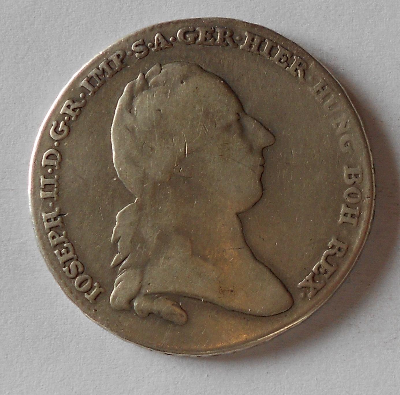 Rakousko Tolar křížový 1788 Josef II. Měl ouško