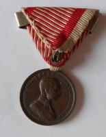 Rakousko Za statečnost, bronz stuha za jedno zranění 1873