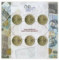 Ročníková sada mincí 6x 20Kč ČR (2018/2019-Rok měny), stavy 0/0