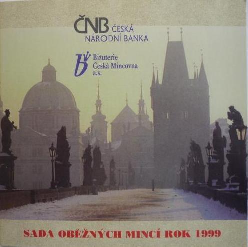 Ročníková sada oběžných mincí ČR (1999-Parléř), stavy 0/0