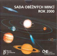 Ročníková sada oběžných mincí ČR (2000-vesmír), stav 0/0