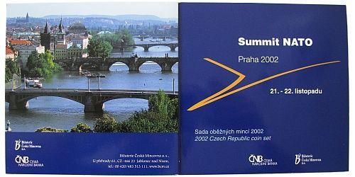 Ročníková sada oběžných mincí ČR (2002-Summit NATO), stavy 0/0